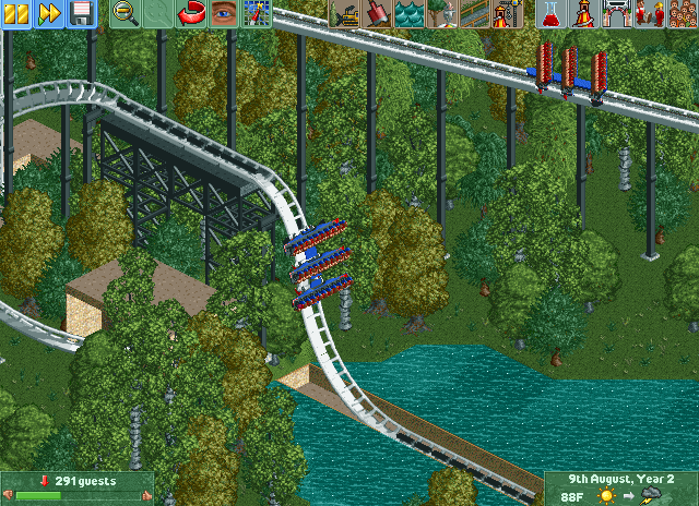 My RCT2 custom rides - RollerCoaster Tycoon - SSCoasters